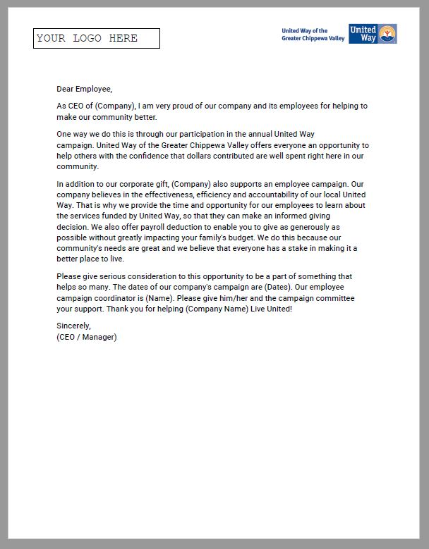 Sample CEO Endorsement Letter