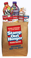 Donate food for Stamp Out Hunger