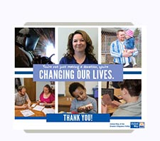 United Way of the Greater Chippewa Valley Thank You Postcard