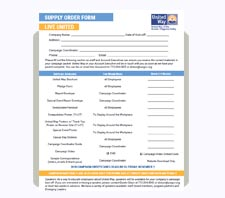 United Way of the Greater Chippewa Valley Campaign Supply Order Form