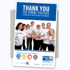 United Way of the Greater Chippewa Valley Thank You Poster