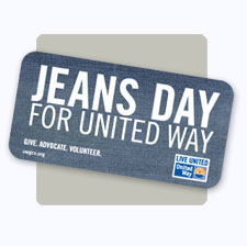 United Way of the Greater Chippewa Valley Jeans Day Stickers