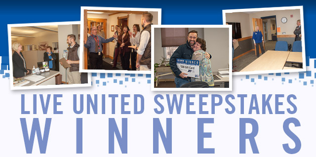 2016 LIVE UNITED Sweepstakes Winners