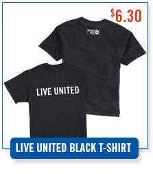 United Way LIVE UNITED Black T-shirt