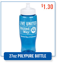 United Way LIVE UNITED water bottle