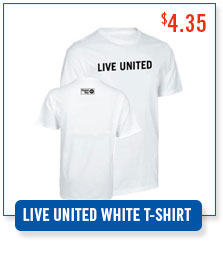 United Way LIVE UNITED White T-shirt